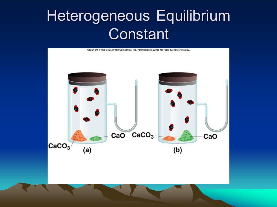 Heterogeneous Equilibrium Constant