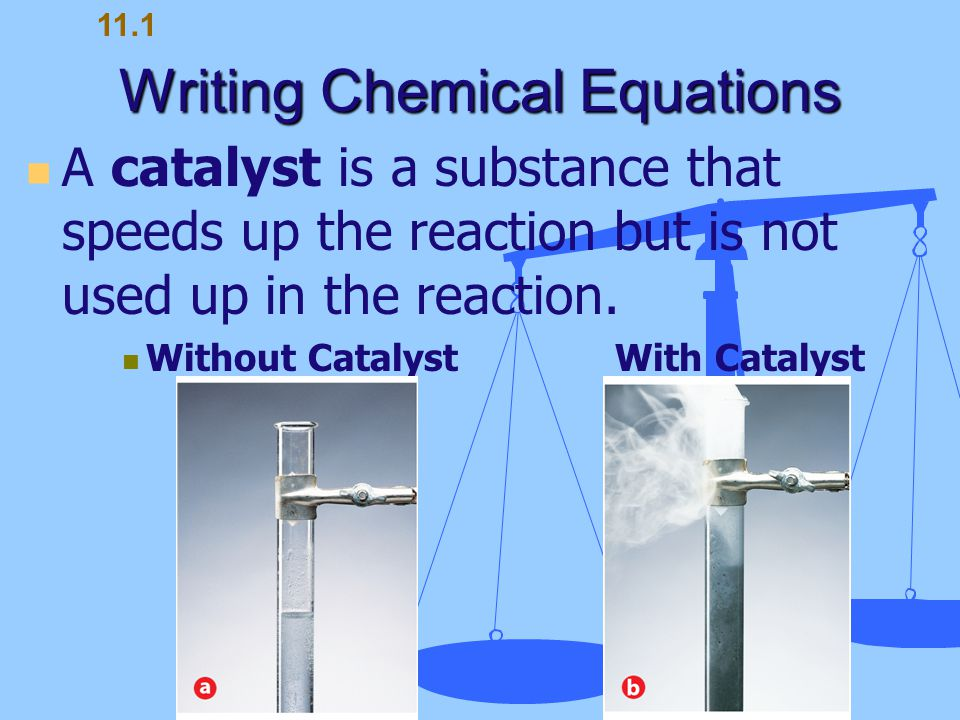 Writing Chemical Equations 11.1
