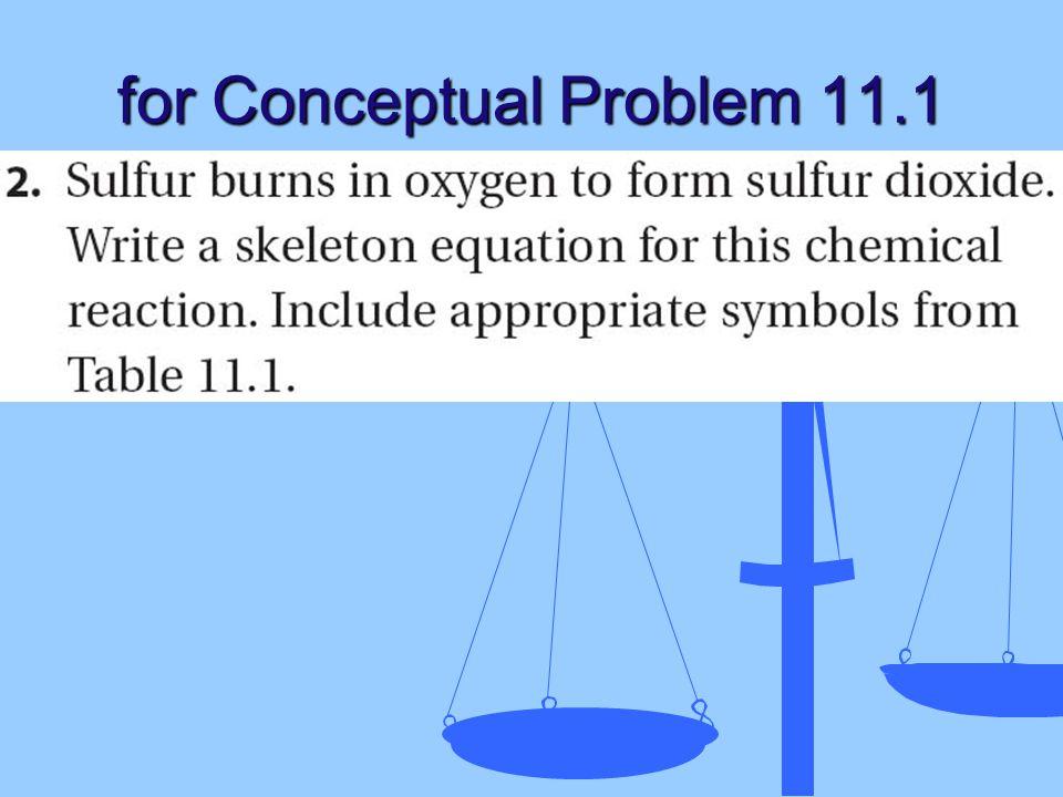 for Conceptual Problem 11.1