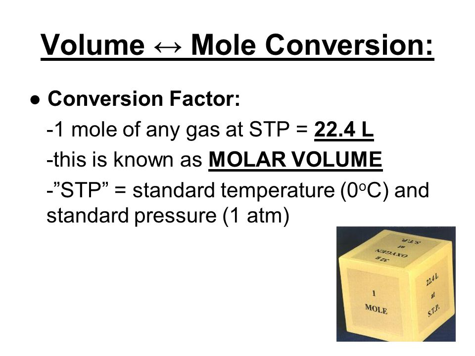 NOTES: 10.2 - Molar Volume, Density; and the Mole Road Map ; NOTES: 10.3 Percent Composition