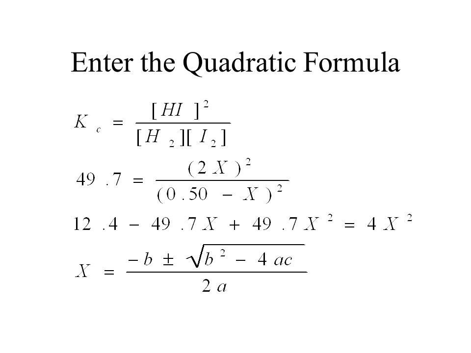 Enter the Quadratic Formula