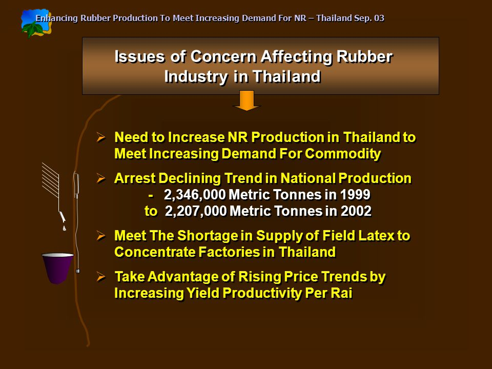 Enhancing Rubber Production To Meet Increasing Demand For NR – Thailand Sep.