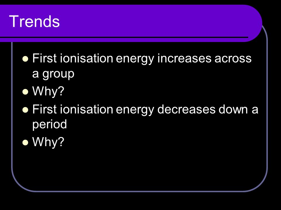 Second ionisation energy The second ionisation energy is the energy required to remove one mole of electrons from one mole of 1+ charged ions in the gaseous state i.e.