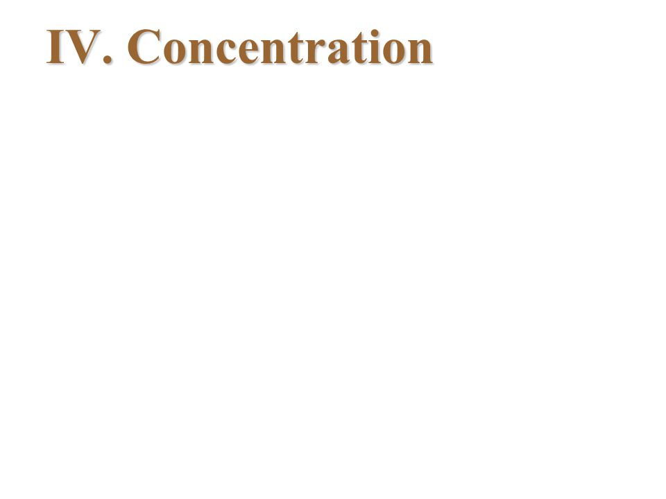 IV. Concentration