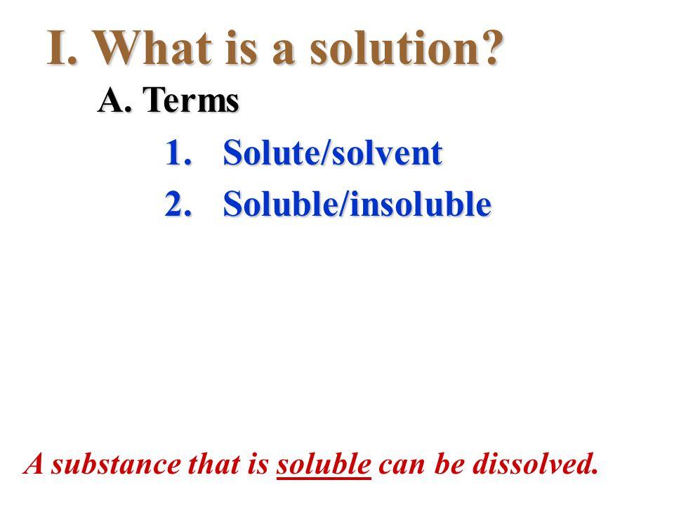 II. Is it soluble?