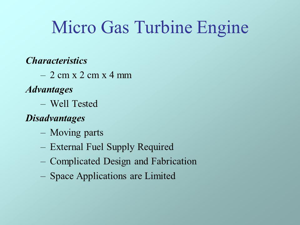 Micro Gas Turbine Engine