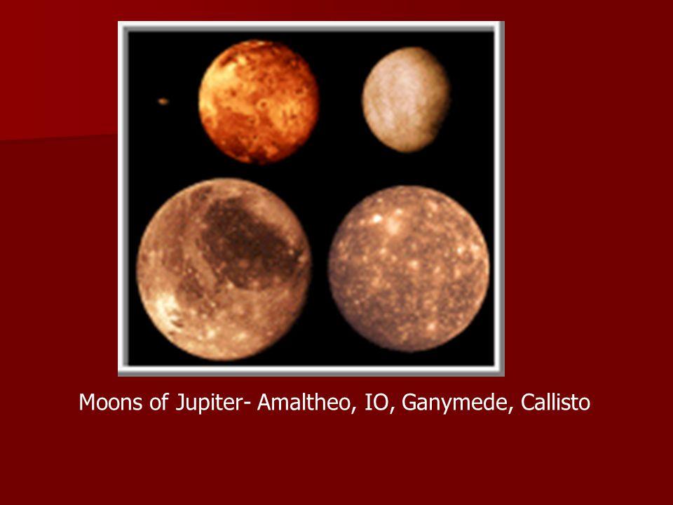 Moons of Jupiter- Amaltheo, IO, Ganymede, Callisto