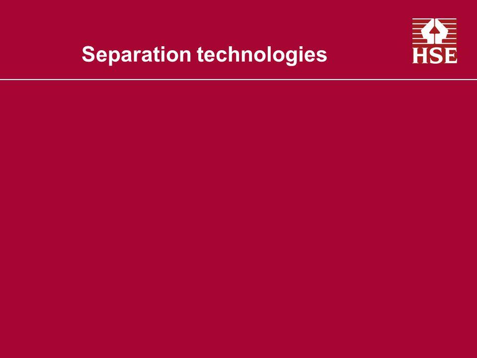 Separation technologies