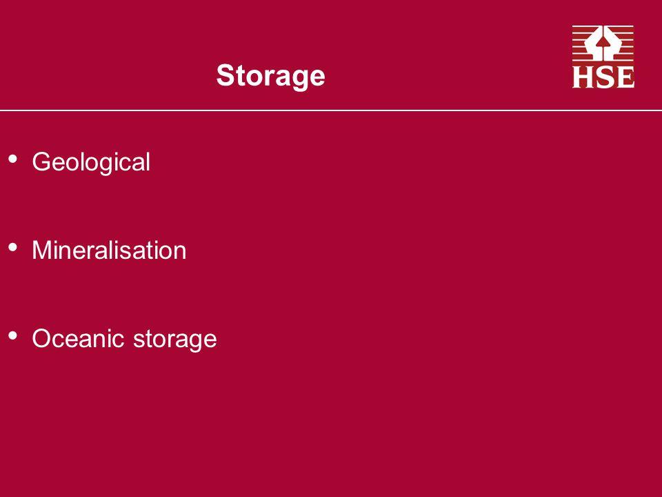 Storage Geological Mineralisation Oceanic storage