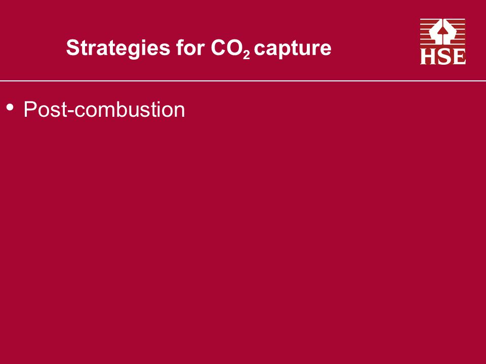 Strategies for CO 2 capture Post-combustion Traditional combustion