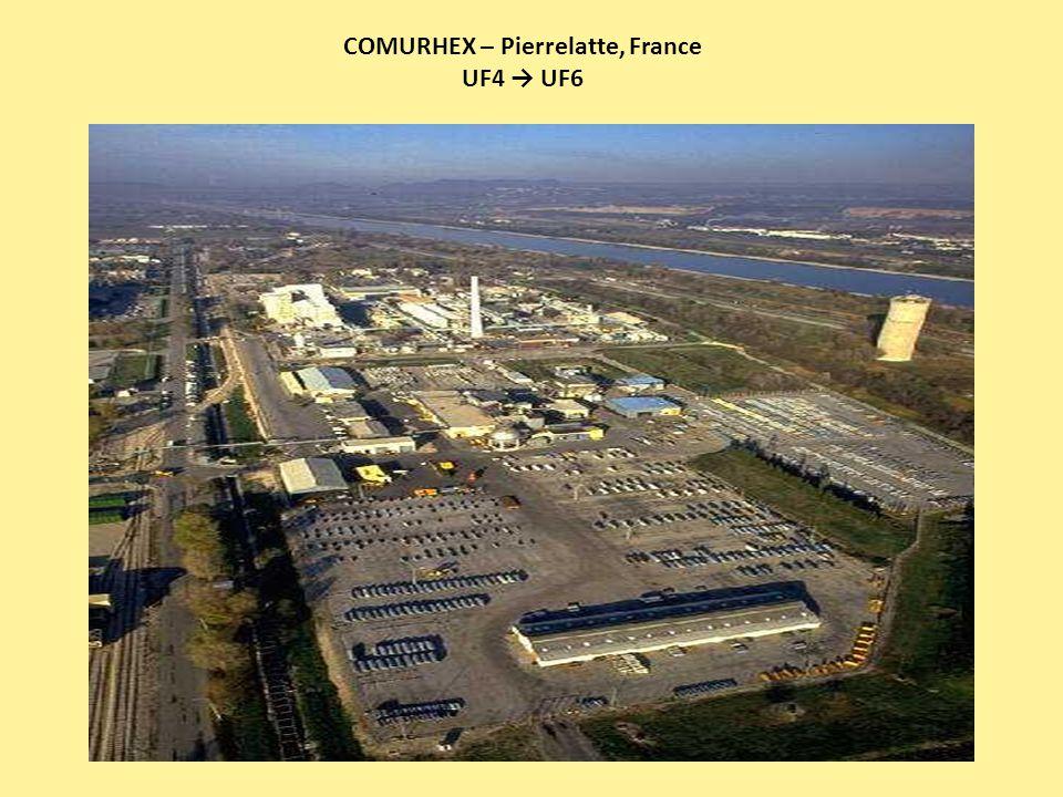 COMURHEX – Pierrelatte, France UF4 → UF6