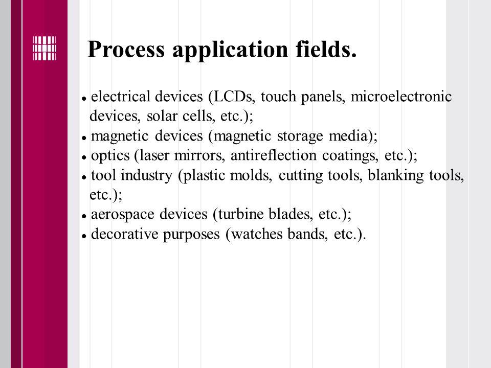 Process application fields.