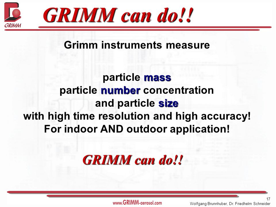 17 Wolfgang Brunnhuber, Dr. Friedhelm Schneider GRIMM can do!.