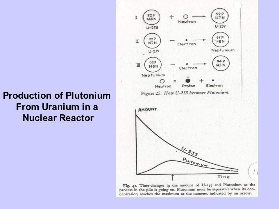 Production of Plutonium From Uranium in a Nuclear Reactor