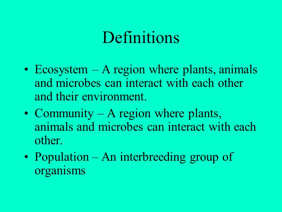 Ecosystem Emergent Properties All systems are made up of components.