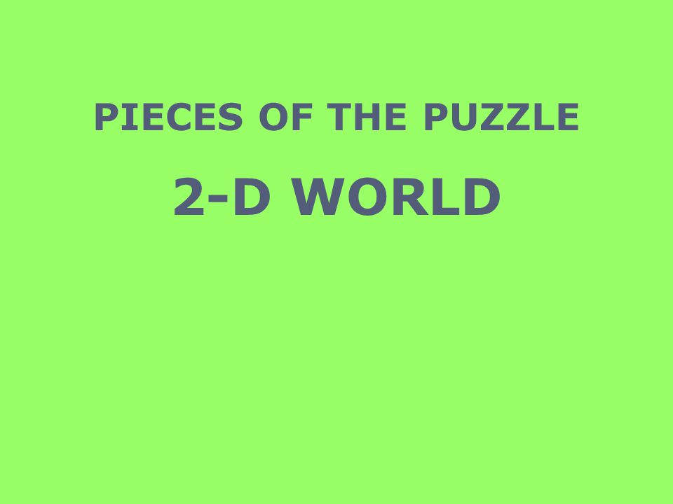 PIECES OF THE PUZZLE 2-D WORLD