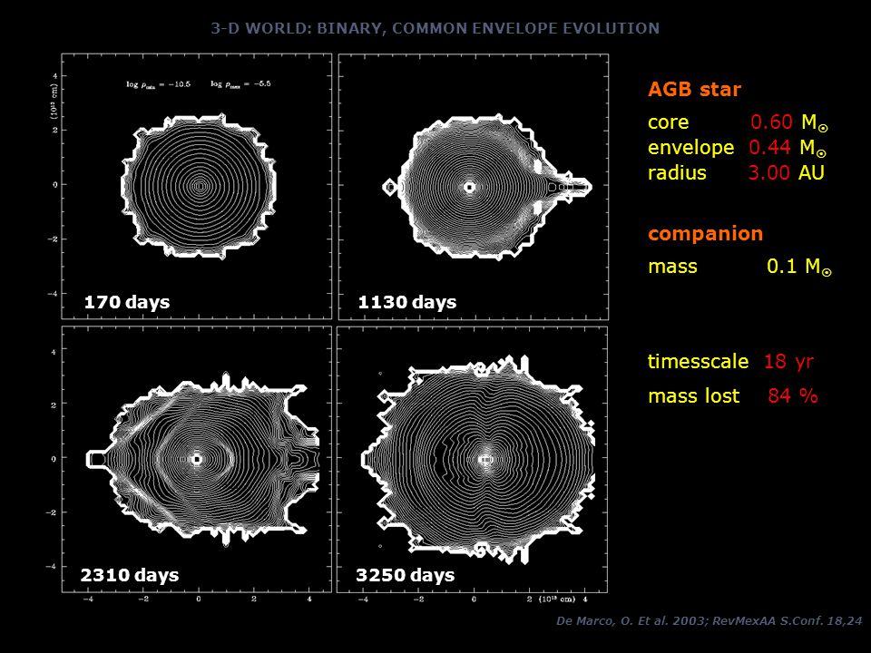 3-D WORLD: BINARY, COMMON ENVELOPE EVOLUTION De Marco, O.