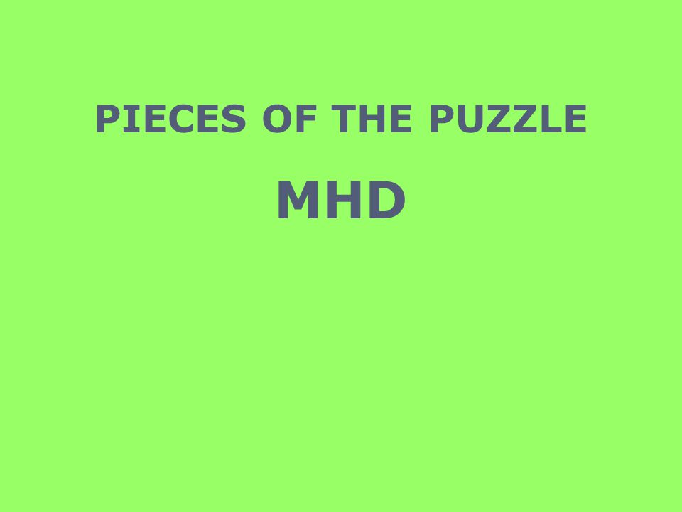 PIECES OF THE PUZZLE MHD