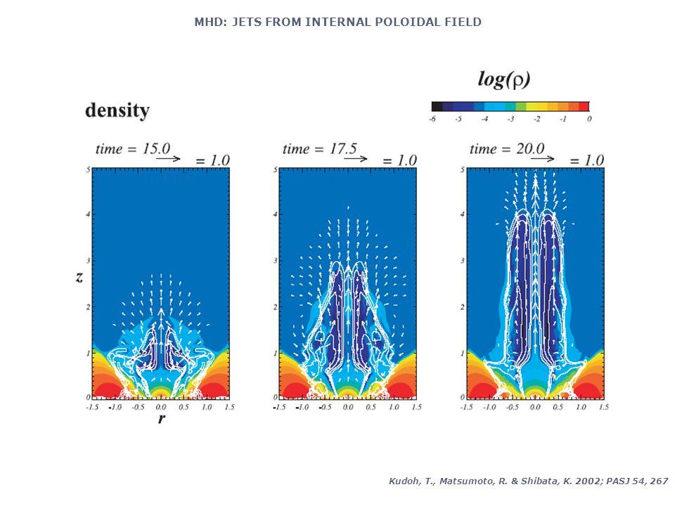 MHD: JETS FROM INTERNAL POLOIDAL FIELD Kudoh, T., Matsumoto, R. & Shibata, K. 2002; PASJ 54, 267
