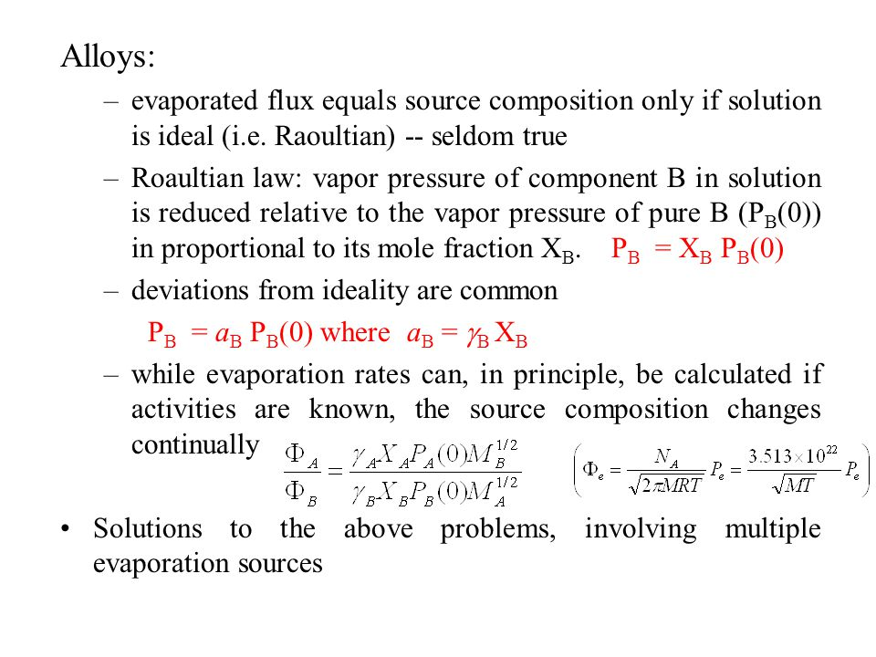 Al-Cu Alloy Deposition 2wt% Cu from single crucible heated to 1350 K