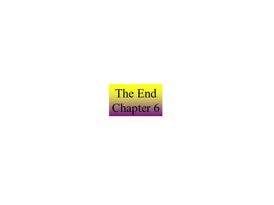 The End Chapter 6