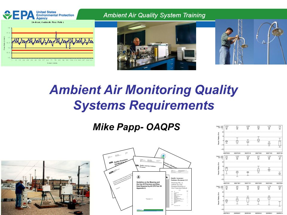 QA Strategy Workgroup Ambient Air Quality System Training Ambient Air Monitoring Quality Systems Requirements Mike Papp- OAQPS