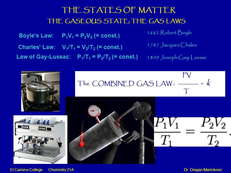 El Camino College Chemistry 21A Dr.