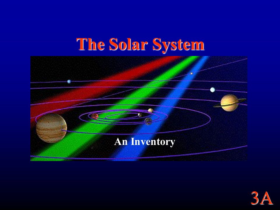 3A The Solar System An Inventory