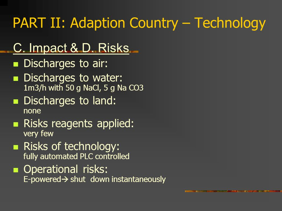 PART II: Adaption Country – Technology C. Impact & D.