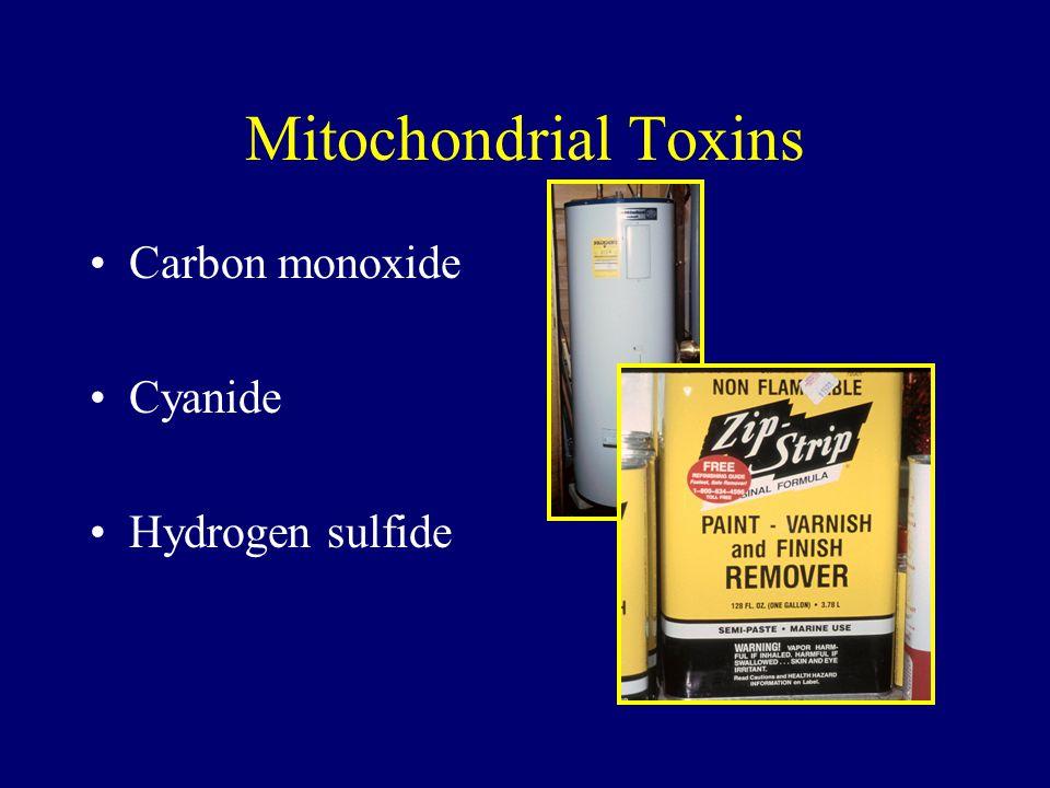 Mitochondrial Toxins Carbon monoxide Cyanide Hydrogen sulfide