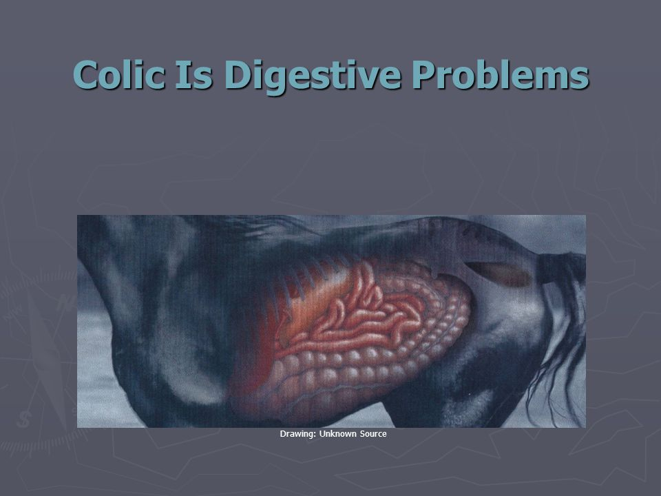 Colic Is Digestive Problems Drawing: Unknown Source