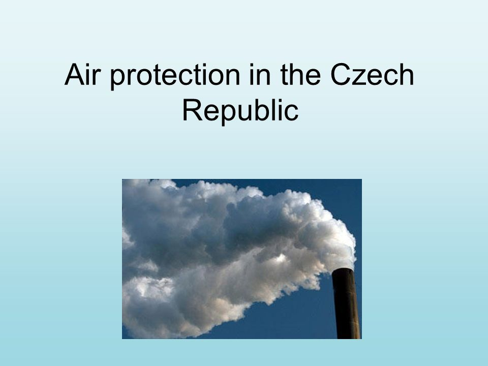 Air protection in the Czech Republic