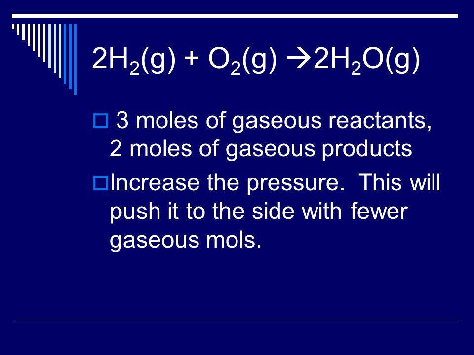 Temperature  Value of the equilibrium constant depends upon the temperature