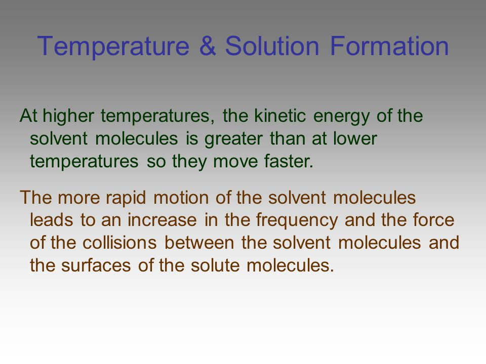 Colligative Properties of Solutions The decrease in a solution's vapor pressure is proportional to the number of particles the solute makes in solution.
