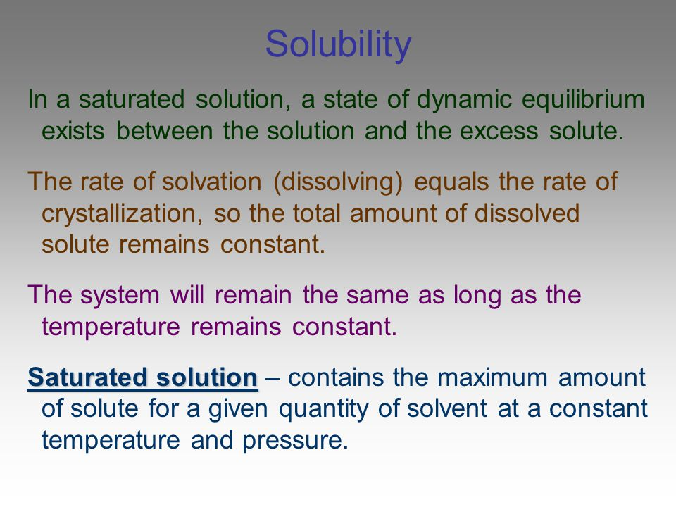 Questions What determines whether a substance will dissolve.