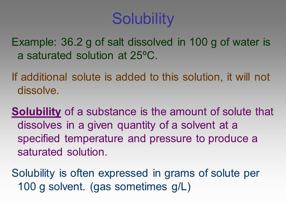 Questions What would you do to change a saturated solid/liquid solution to an unsaturated solution.