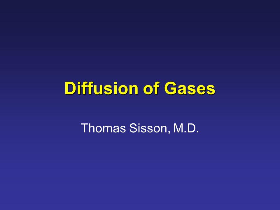 Diffusion of Gases Thomas Sisson, M.D.