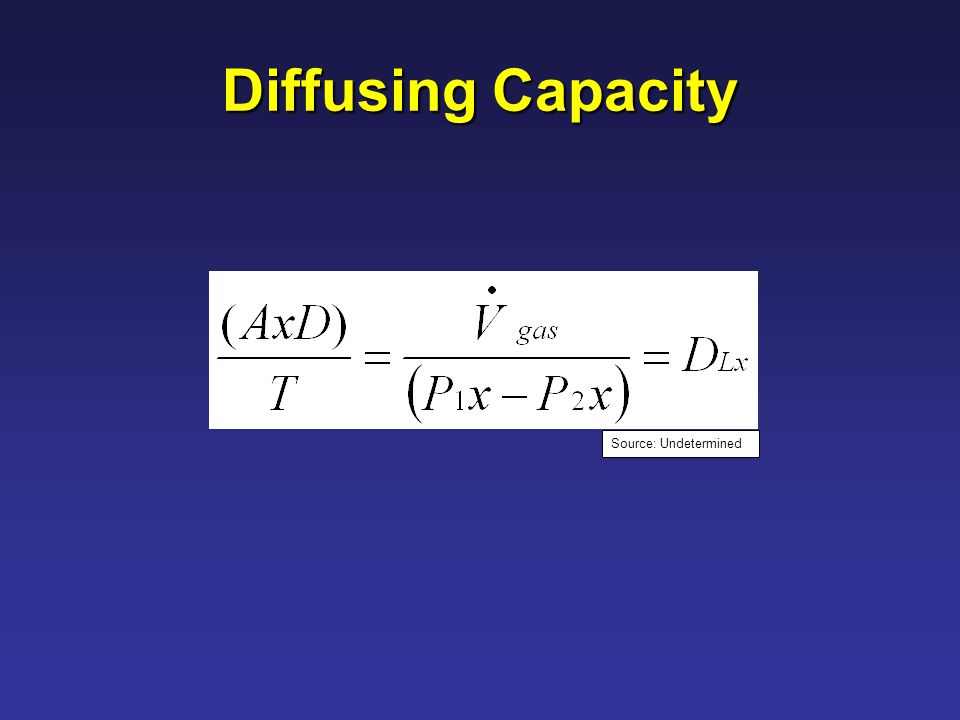 Diffusing Capacity Source: Undetermined