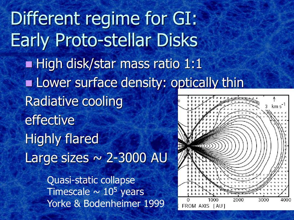 Clump Properties Sensitive to surface density/temperature: Lighter & colder  smaller characteristic masses Clump mass distribution