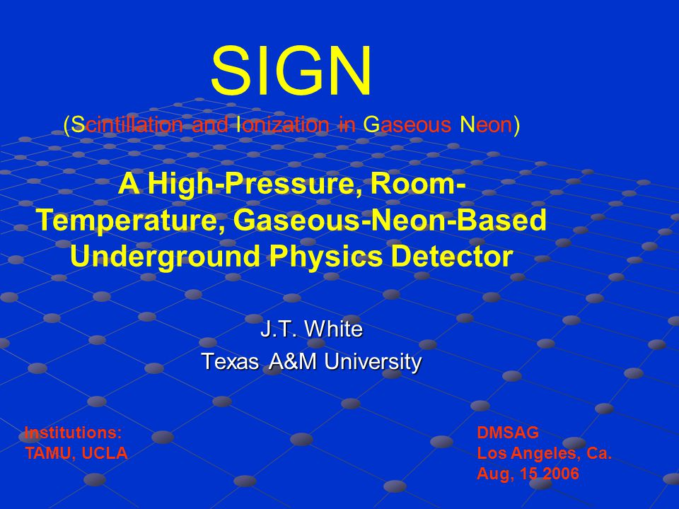 Example: Neon doped with Xenon Ne* + Ne  Ne*Ne  2Ne + 90 nm 90 nm + Xe  Xe + + e - Ne* + Xe  Ne*Xe  NeXe + + e - Ne + + Xe  Ne+Xe  NeXe + + 134nm Some Xe + + e- -> Xe* and some Xe* directly produced Xe* + Xe  Xe*Xe  2Xe + 175 nm Interaction -> Ne* and Ne + + e - then 90 nm travels < 1 um,.5%Xe 3/2 1/2 3/2 1/2 Nuclear Recoils: mostly Ne* Electron Recoils: mostly Ne + ~100% Ne* -> Ionization .