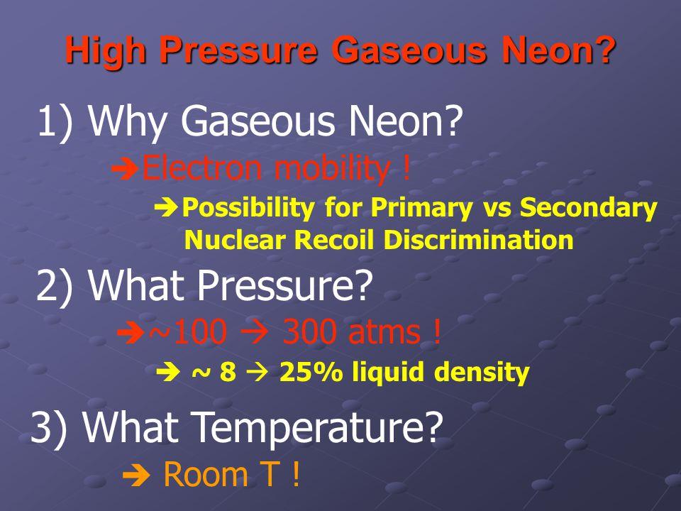 High Pressure Gaseous Neon. High Pressure Gaseous Neon.