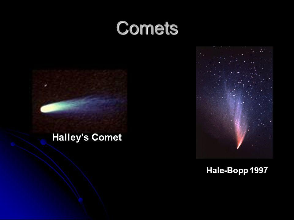 Comets Hale-Bopp 1997 Halley's Comet