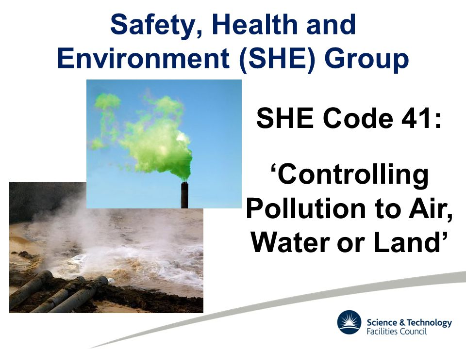 Why a code to control pollution.