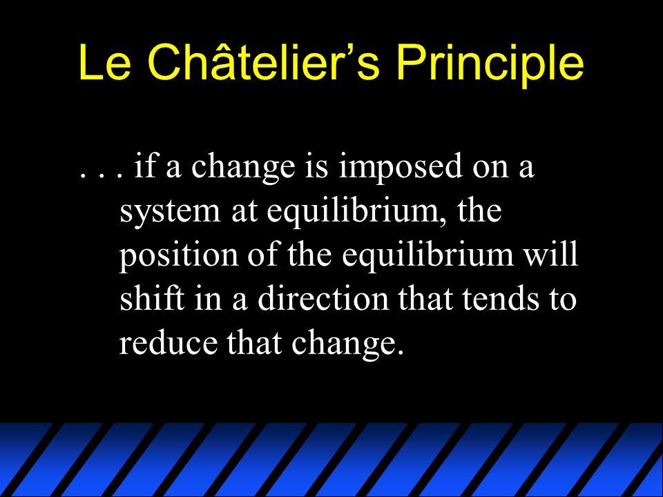 Le Châtelier's Principle...