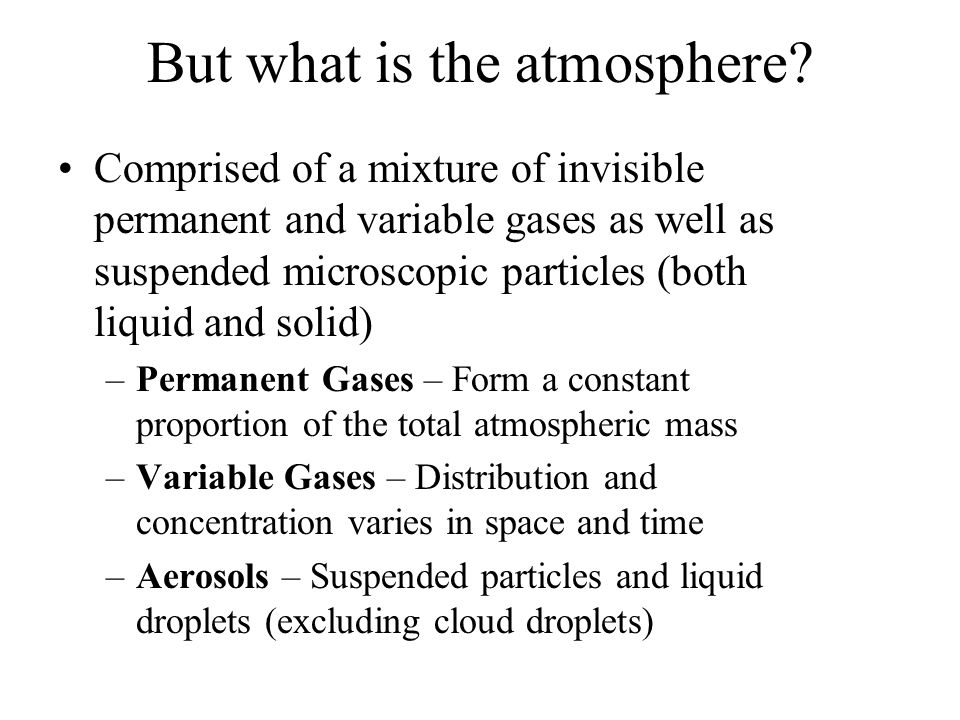 What Determines Atmospheric Composition.