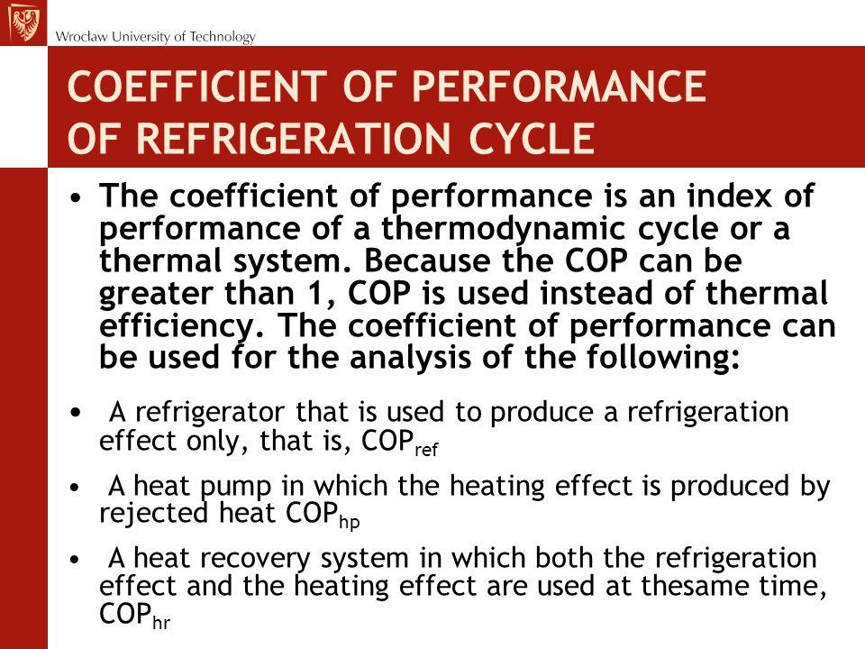 Refrigeration processes of a vapor compression refrigerating system Evaporation.
