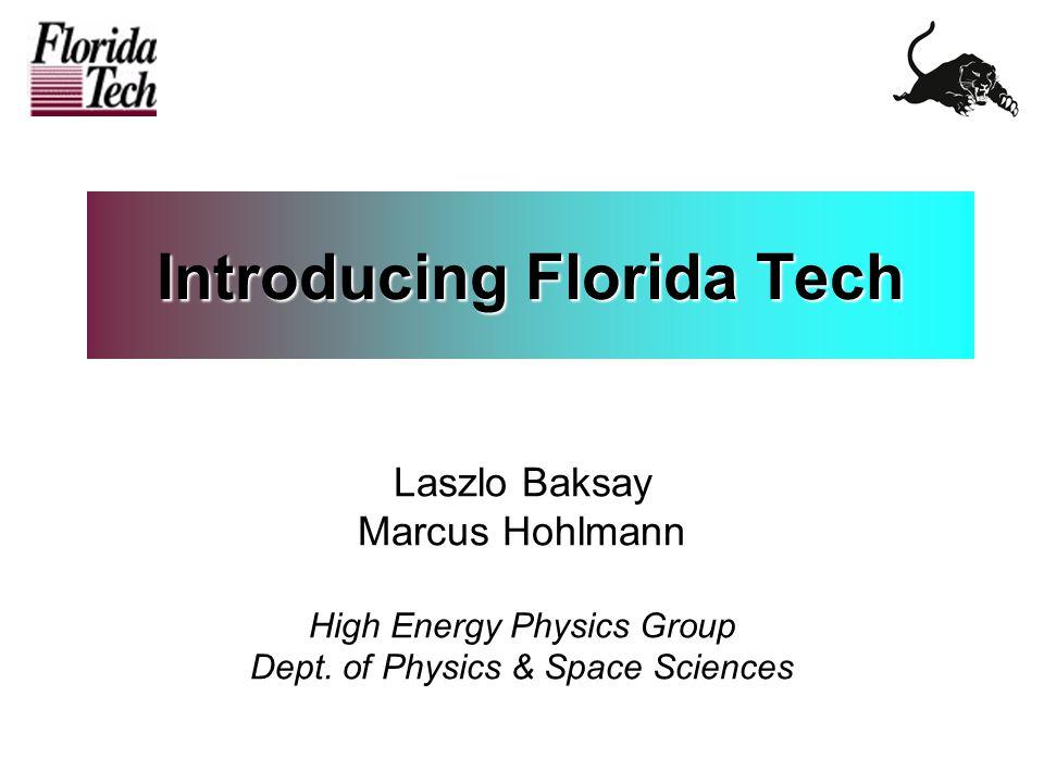 12/11/2003L.Baksay, M. Hohlmann - PHENIX IB meeting at BNL2 Where's Florida Tech .