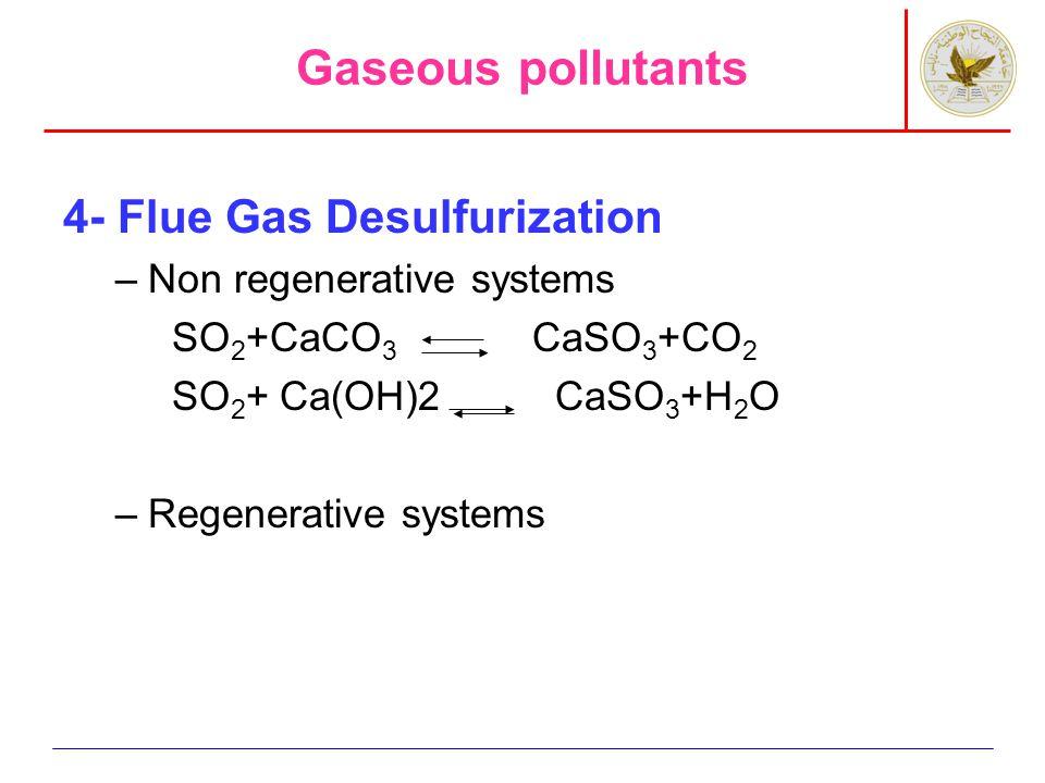 Gaseous pollutants 5- Control tech.