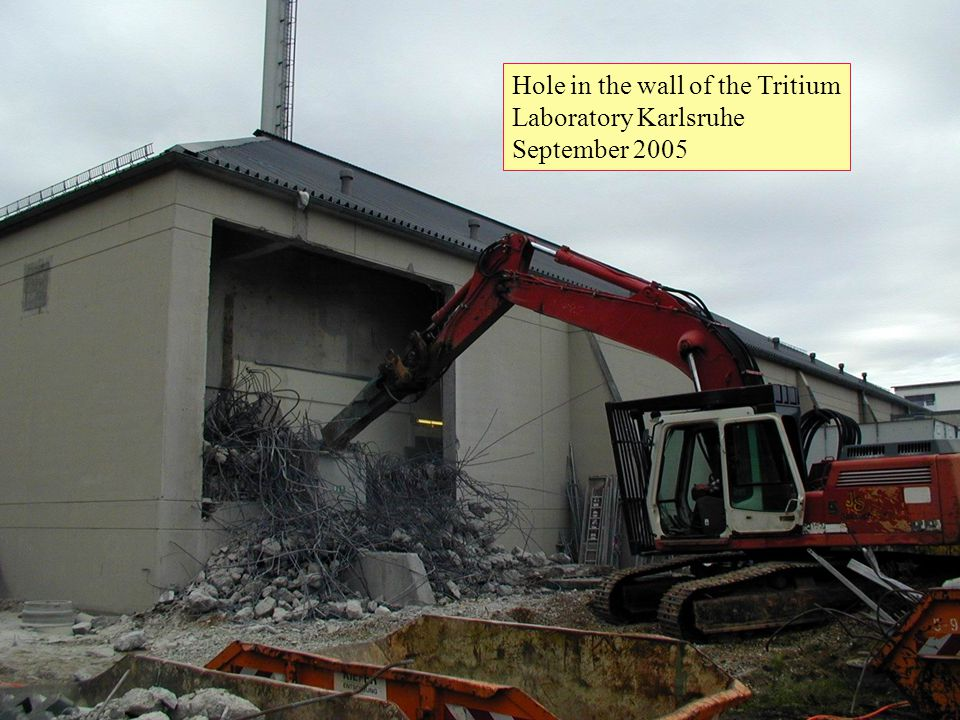 12 Hole in the wall of the Tritium Laboratory Karlsruhe September 2005