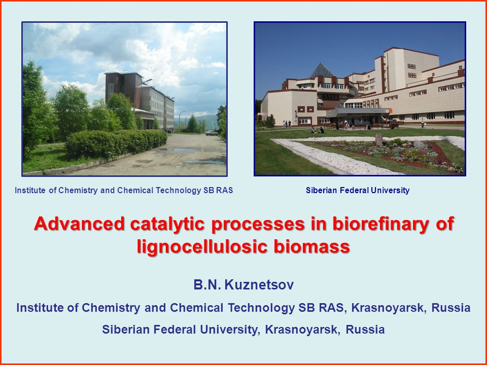 Presentation outline 1.Introduction 2. Catalysis in biorefinary 3.